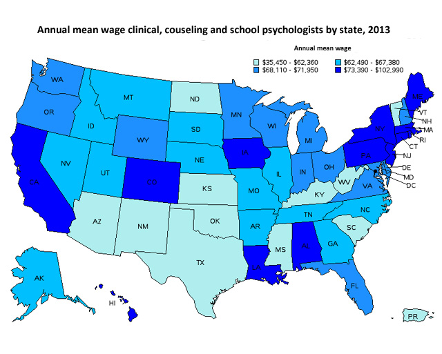salary federal government psychologist salaries