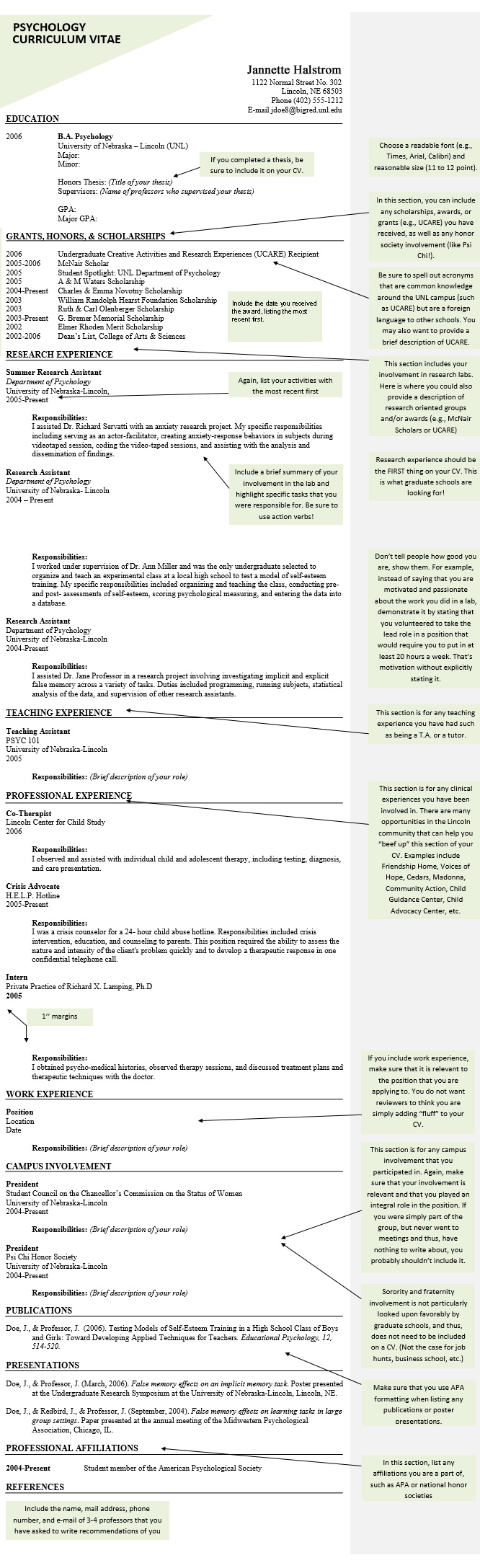 Psychology Cv And Resume Samples Templates And Tips